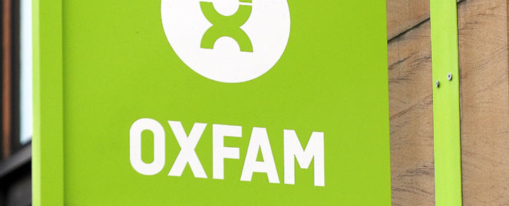 The logo on the front of an Oxfam bookshop is photographed in Glasgow on 10 February 2018. Picture: AFP