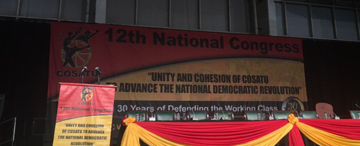 FILE: Centre stage at the Congress of South African Trade Unions' (Cosatu) National Congress in Midrand. Picture: Govan Whittles/EWN.