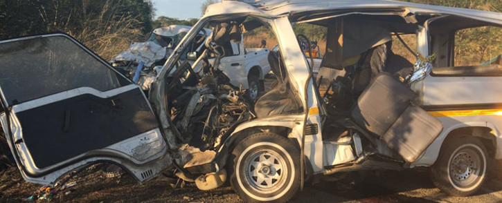 The scene of a crash in Ladysmith where 11 people were killed. Picture: Ziyanda Ngcobo/EWN