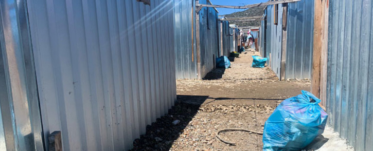 These temporary homes were put up in Masiphumelele following a fire in December 2020. Picture: Kaylynn Palm/Eyewitness News