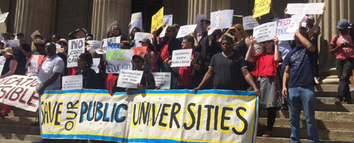 Academics call for government's blueprint for free education on 7 October 2016 at Wits University. Picture: Kgothatso Mogale/EWN.