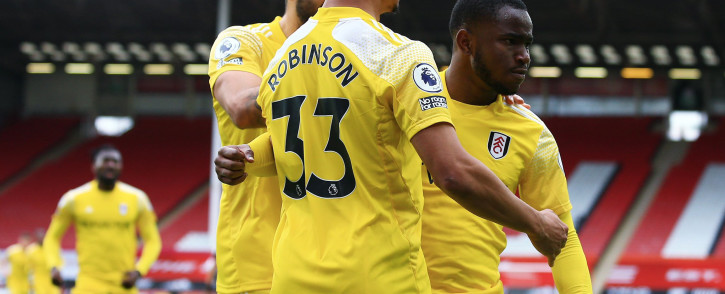 Fulham players during the English Premier League football match between Sheffield United and Fulham at Bramall Lane in Sheffield, northern England on 18 October 2020. The game finished 1-1. Picture: @FulhamFC/Twitter