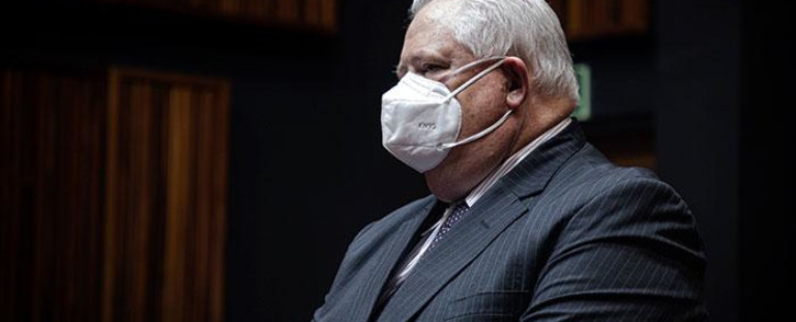 Former Bosasa COO Angelo Agrizzi appears in the Palm Ridge Magistrates Court on 14 October 2020. Picture: Xanderleigh Dookey/EWN