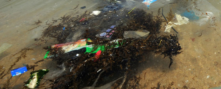 FILE: Plastic and rubbish pollute a beach in Hong Kong. Picture: AFP