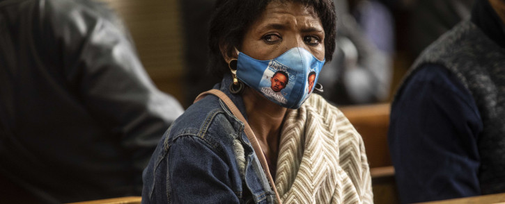 Bridget Harris, mother of murdered teen Nathaniel Julies, at the Proteas Magistrates court on 22 September 2020. Picture: Abigail Javier/EWN