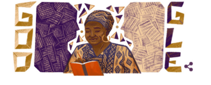 Google's Doodle of Miriam Tlali. Picture: Google.