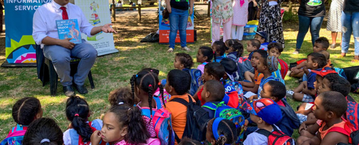 Children from across Cape Town gathered at the Company Gardens to celebrate World Read Aloud Day. Picture: KaylynnPalm/EWN.