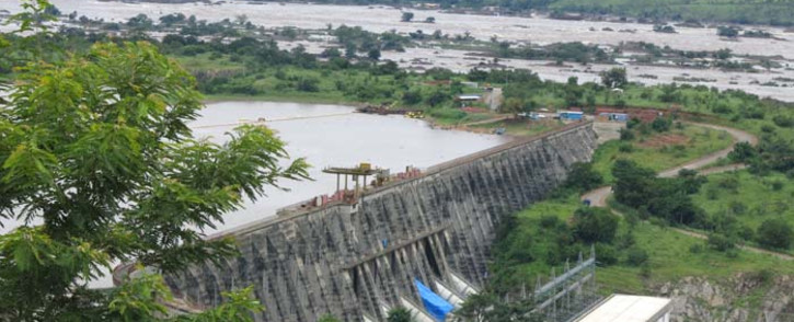 The Grand Inga Dam under construction in the DRC. Picture: International Rivers