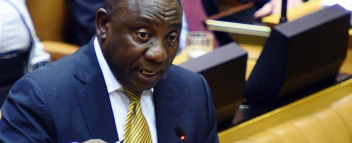 Deputy President Cyril Ramaphosa in the National Assembly in Parliament on 12 August 2015. Picture: GCIS.