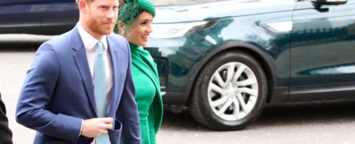 The Duke and Duchess of Sussex Prince Harry and his wife Meghan Markle arrive at Westminster Abbey on 9 March 2020 for the Commonwealth Service. The event is the couple's final before the step back from royal duties. Picture: @commonwealthsec/Twitter