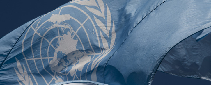 A view of the flag of the United Nations in front of United Nations Headquarters in New York. Picture: United Nations.
