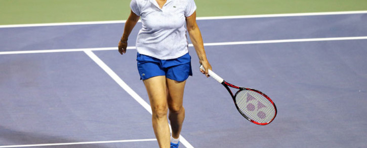 FILE: Martina Navratilova reacts during an exhibition match during Day 4 of the Connecticut Open at Connecticut Tennis Center at Yale on 21 August 2017 in New Haven, Connecticut. Picture: AFP
