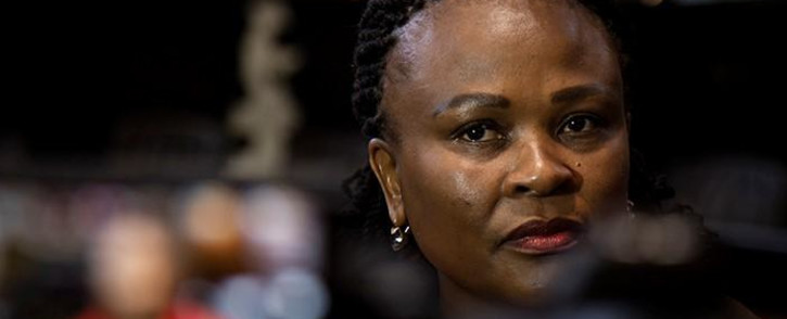 FILE: Public Protector Busisiwe Mkhwebane at the Constitutional Court in Johannesburg on 22 July 2019. Picture: Sethembiso Zulu/EWN