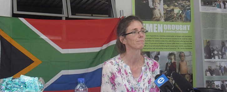 FILE: Yolande Korkie met with the Gift of the Givers' Anas al-Hamati on Saturday for the first time.