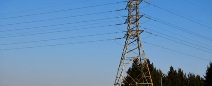FILE: Electricity pylon. Picture: EWN