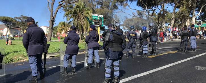 Total shutdown protests on Kommetjie Road on 8 August 2019. Picture: Kevin Brandt/EWN.