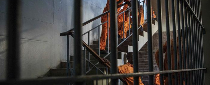 FILE: Inmates wait inside Leeuwkop Correctional Facility along the stairs. Picture: Thomas Holder/Eyewitness News