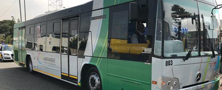 A new Ekhuruleni BRT bus being launched in Kempton Park. Picture: Kgothatso Mogale/EWN