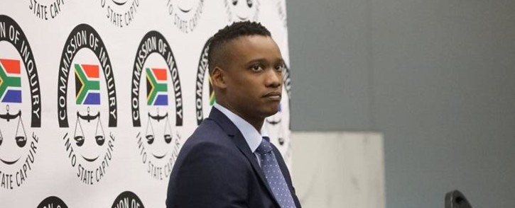 Duduzane Zuma at the Zondo commission of inquiry into State Capture on 7 October 2019. Picture: Kayleen Morgan/EWN
