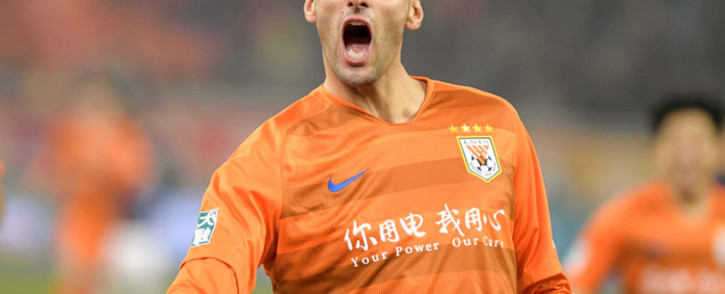 FILE: Marouane Fellaini of Shandong Luneng celebrates after scoring during the Chinese Super League (CSL) football match between Shandong Luneng and Beijing Renhe in Jinan in China's eastern Shandong province on 1 March 2019. Picture: AFP