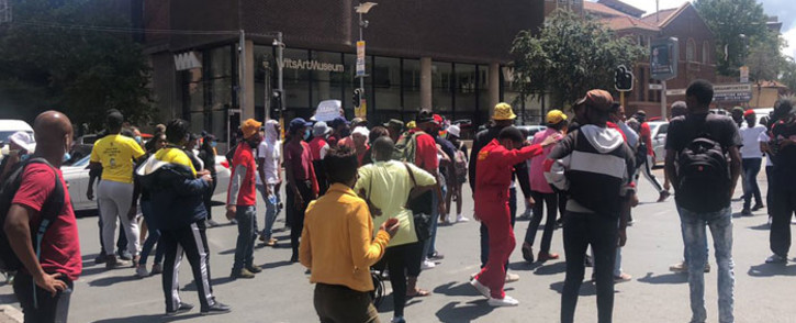 Students protest in Braamfontein over historic debt on 15 March 2021. Picture: Mia Lindeque/Eyewitness News