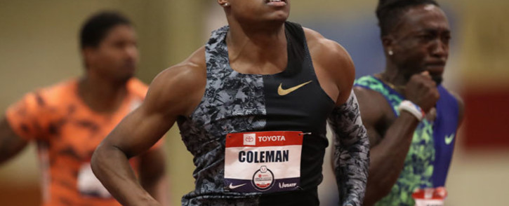 FILE: Christian Coleman competes in the Men's 60 Meter semifinal during the 2020 Toyota USATF Indoor Championships at Albuquerque Convention Center on 15 February 2020 in Albuquerque, New Mexico. Picture: AFP
