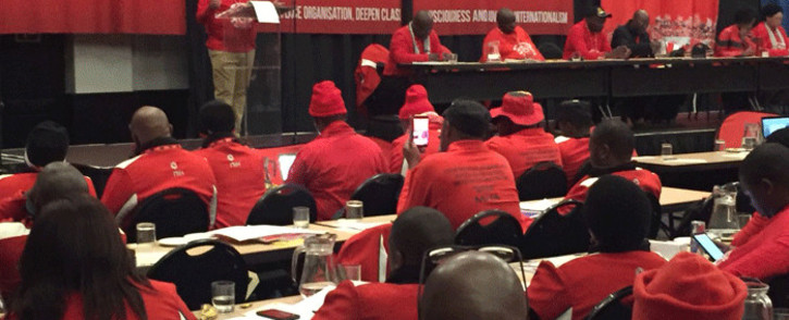 Members at Nehawu's policy conference on 26 June 2016. Picture: @_cosatu/Twitter.