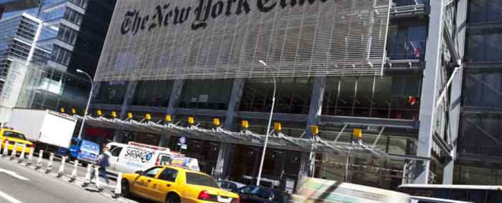 FILE: Traffic moves along by The New York Times headquarters building 21 April 2011 in New York City. Picture: AFP