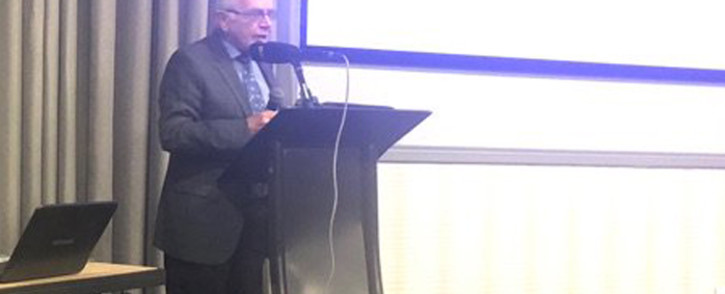 Retired Judge Johann Kriegler addressing the Annual Mental Health Summit in Boksburg, Johannesburg. Picture: Mia Lindeque/EWN.