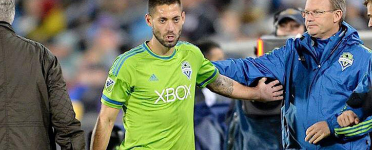 Seattle Sounders striker Clint Dempsey has been banned from the US Open Cup for at least two years after an incident in which he was sent off for ripping up a referee's notebook. Picture: Facebook.