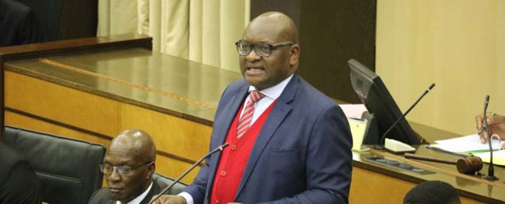 Gauteng Premier David Makhura tabled his fourth political report in the provincial legislature on Thursday7 December 2017. Picture: Twitter/@GautengANC