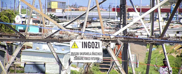 FILE: Illegal electricity connections. Picture: Thomas Holder/EWN