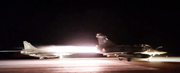 French fighters on route to bomb ISIS sites in Raqqa, Syria. Picture: Screen grab/CNN