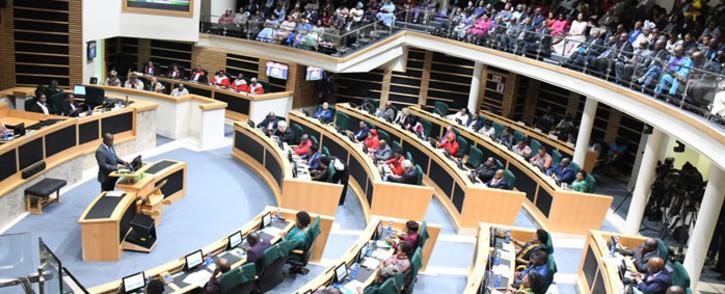Eastern Cape Premier Oscar Mabuyane address the provincial legislature. Picture: www.ecprov.gov.za