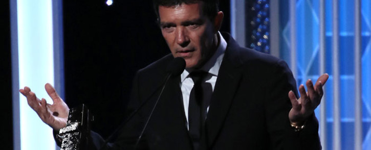 Antonio Banderas appears on stage at the 23rd Annual Hollywood Film Awards show at The Beverly Hilton Hotel on 3 November 2019 in Beverly Hills, California. Picture: AFP