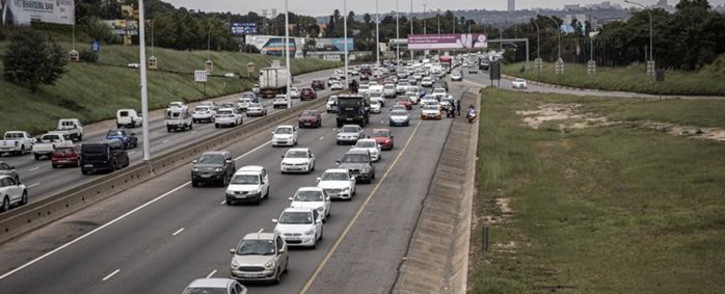 FILE: Bolt and Uber drivers blocked the N1 driving to the head offices of both companies in Marlboro to hand over their memorandum on 20 February 2020. Picture: EWN