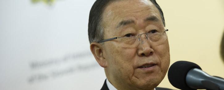 FILE: Ban Ki-moon. Picture: AFP.