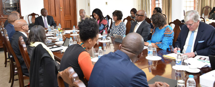 President Cyril Ramaphosa meets the National Planning Commission on 6 August 2019. Picture: @PresidencyZA/Twitter