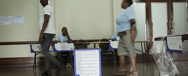 Inside the Durban City Hall voting station as the special voting day commences on 6 May 2019. Picture: Sethembiso Zulu/EWN