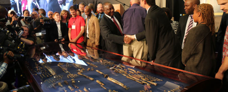 FILE: Deputy President Cyril Ramaphosa at the unveiling of the Homo Naledi fossils. Picture: Christa Eybers/ EWN