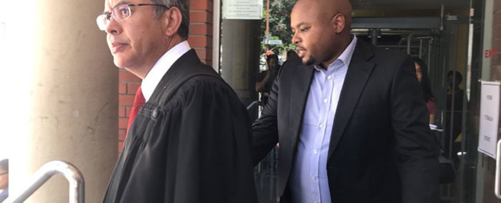 Hlumelo Biko (right) makes an appearance at the Cape Town magistrate's court on 4 January, 2018. Picture: Monique Mortlock/EWN
