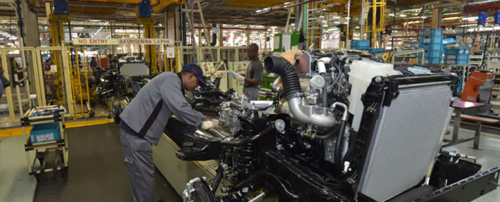 FILE: Inside the Toyota plant in Prospecton, Durban, where the company will expand the production of its Hilux and Fortuner models. Picture: GCIS.