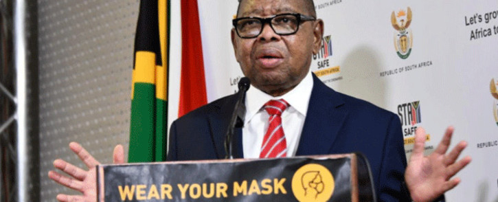 Higher Education Minister Blade Nzimande at a media briefing on 18 January 2021. Picture: GCIS.