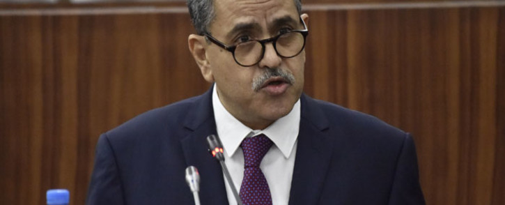 Algeria's Prime Minister Abdelaziz Djerad addresses the National Assembly in the capital Algiers on 11 February 2020, as the Parliament held debates and vote over the new government's plan to boost the economy. Picture:  AFP