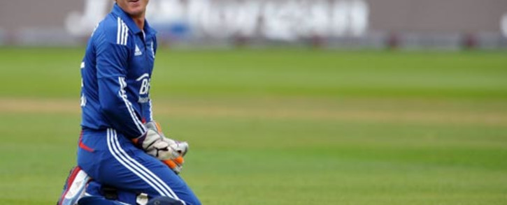 England wicketkeeper Craig Kieswetter reacts to a misfield on the fourth One Day International cricket match between England and South Africa at Lords, in London,on September 2, 2012. Picture: AFP.