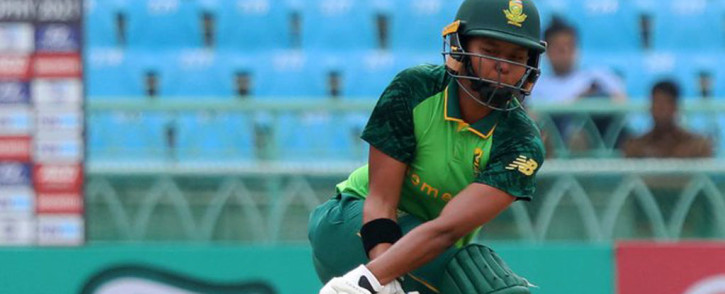Lara Goodall got her half-century off just 60 balls - the second of her career. Picture: Twitter @OfficialCSA.