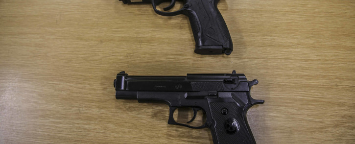 We took a replica firearm to a police officer and asked him to demonstrate how difficult it is to distinguish it from a real gun. Picture: Cindy Archillies/EWN