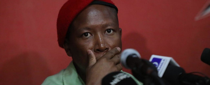 FILE: EFF leader Julius Malema addresses media on 2 July 2019. Picture: Kayleen Morgan/EWN