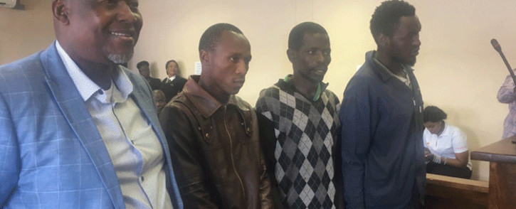 Mike Mangena (L) and his co-accused appeared in the  Randfontein Magistrates Court on 23 November 2018. Picture: Robinson Nqola/EWN.