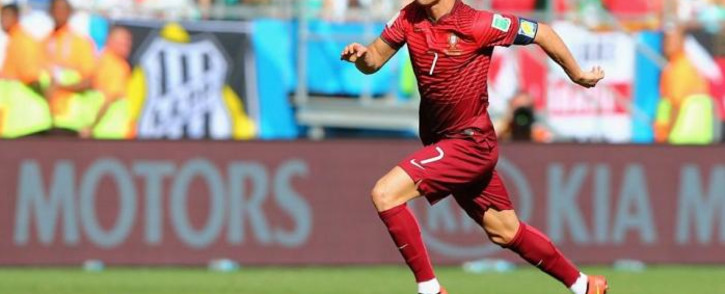 Cristiano Ronaldo of Portugal controls the ball during the 2014 FIFA World Cup Brazil Group G match between Germany and Portugal at Arena Fonte Nova on 16 June, 2014 in Salvador, Brazil. Picture: Fifa.com